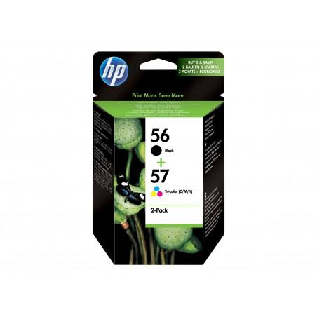 HP 56/57 - Pack de 2 - noire, couleurs (cyan, magenta, jaune) - original - cartouche d'encre